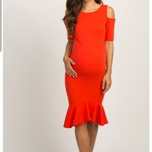 Maternity red party dress